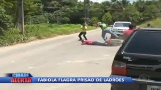 flagra tiroteio e prisão de criminosos em Manaus
