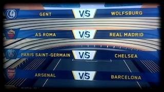 UEFA CHAMPIONS LEAGUE 1/8 DRAW [SORTEO OCTAVOS DE LA CHAMPIONS LEAGUE] 2015/2016