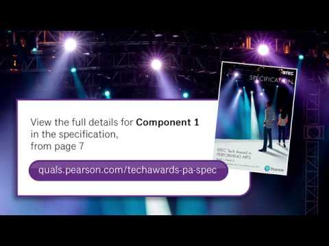 BTEC Tech Award In Performing Arts: Component 1