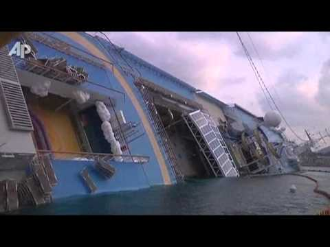 Fuel Removal Under Way on Capsized Italian Ship