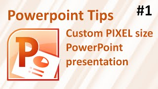 How to make a custom PIXEL size PowerPoint presentation and convert it to a picture.