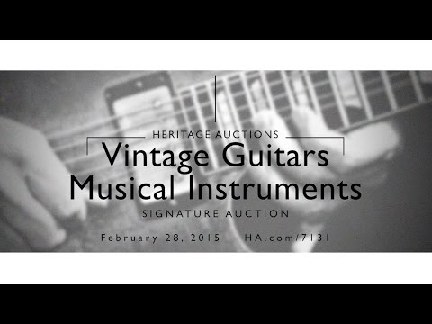 Vintage Guitars & Musical Instruments Signature Auction, February 2015
