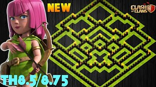 NEW TOWN HALL 8.5/8.75 FARMING/TROPHY BASE 2018! TH9 HYBRID BASE WITH NO XBOWS! -CLASH OF CLANS