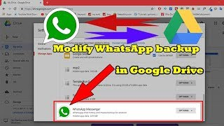 How to find WhatsApp data in google Drive?
