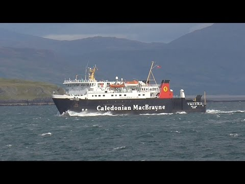 Ferrys viewed from the Isle of Mull