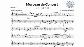 FREE Play-Along for HORN: MORCEAU DE CONCERT (1/3) 🎶📲📯👏 (more versions in description)