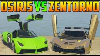PEGASSI OSIRIS vs ZENTORNO - Test de Velocidad - El Coche Mas Rápido de GTA V Online PS4