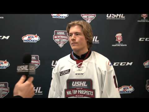 Brock Boeser - 2015 USHL/NHL Top Prospects Game introductory press conference