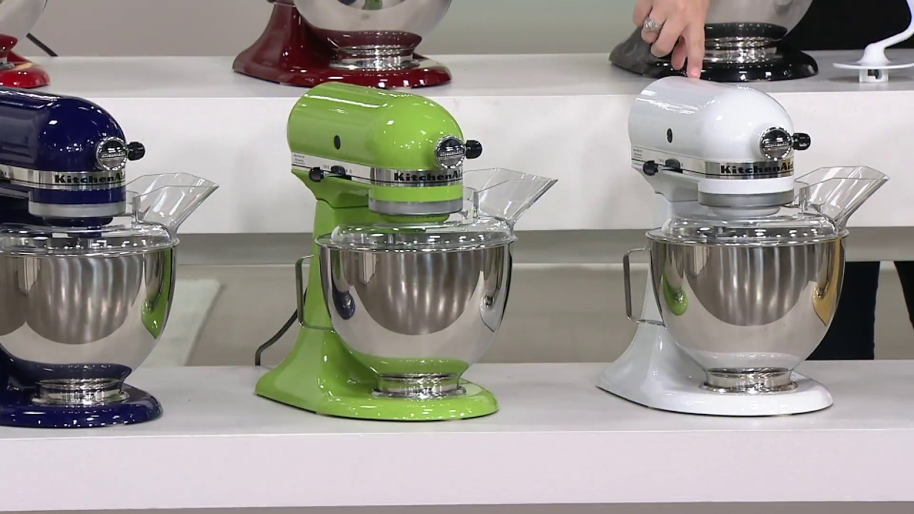 KitchenAid 4.5-qt 300W Tilt-Head Stand Mixer w/ Flex Edge on QVC