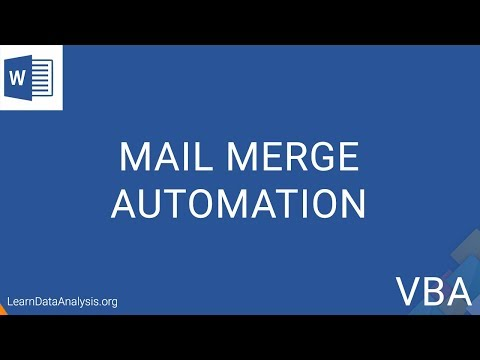 Automate Mail Merge To Save Each Record Individually In MS Word | MS Word VBA Tutorial