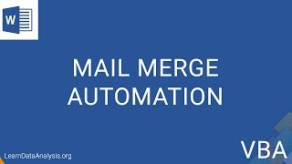 automate Mail Merge to Save Each Record Individually in MS Word  MS Word VBA Tutorial