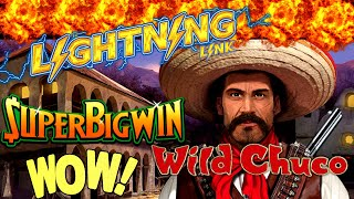 🌟MEGA BIG WIN🌟Lighting Link WILD CHUCO Slot Machine Max Bet Bonus Won| Better Than HANDPAY JACKPOT