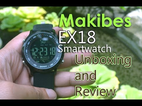 Makibes EX18 Smartwatch Review and Unboxing - YouTube 8ce9de6ffba9b