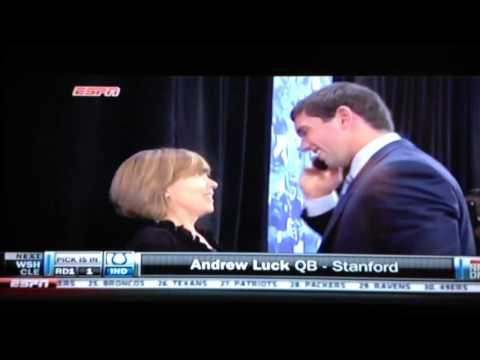 Andrew Luck goes 1st round 1st pick to the Colts 2012 NFL Draft