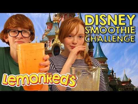 Can you guess the Disney song?  LemonReds Episode 34  Disney Smoothie Challenge #disneychallenge