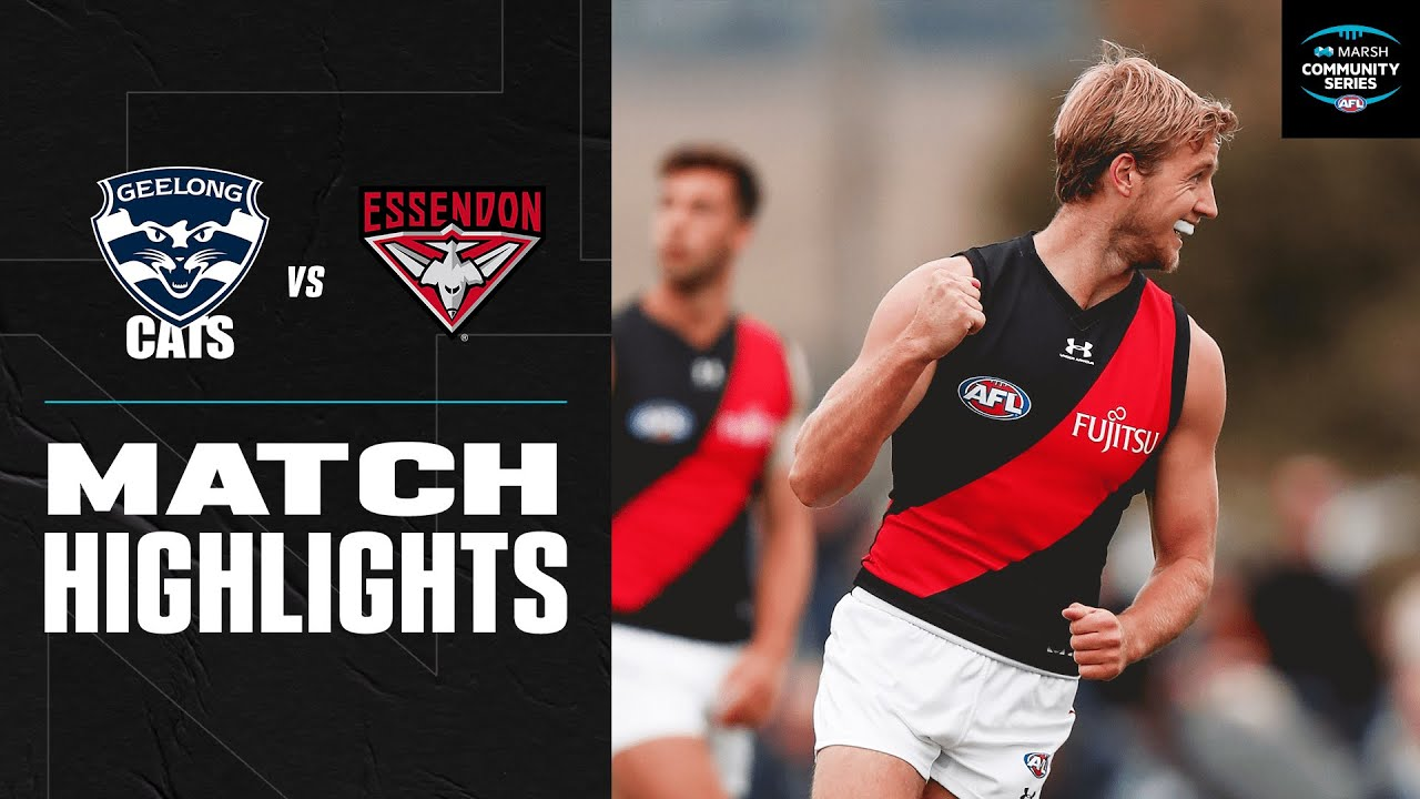 Bombers Hold Off Cats In Colac Geelong V Essendon Marsh Community Series 2020 Afl Youtube