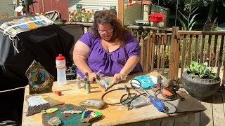 At her home studio in Summit Township on Aug. 28, 2018, Trish Catal...