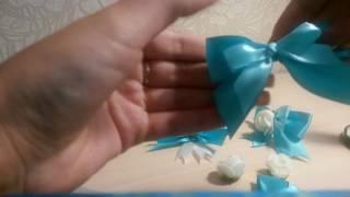 Бутоньерка на свадьбу| Как завязать бант| Резинка для волос своими руками