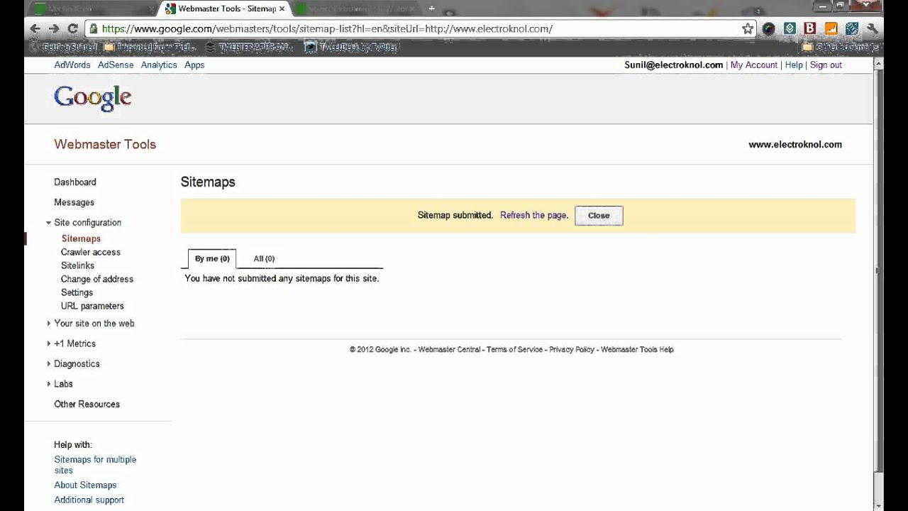 how to submit a sitemap xml file to google search engine tutorial