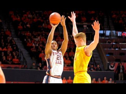 Illini Basketball Highlights vs Maryland 1/14/17