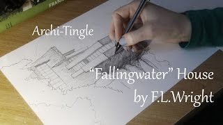 ➳ New ASMR series ➳ Archi-Tingle / Fallingwater House / Upclose whispering & Hand drawing