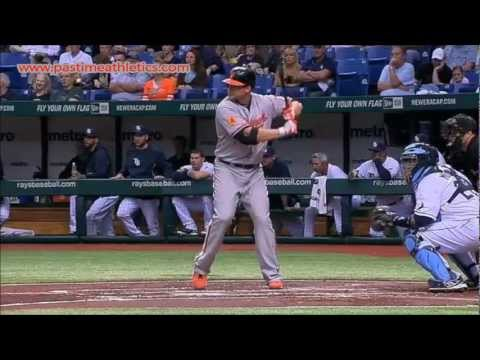 Chris Davis Slow Motion Home Run Baseball Swing - Hitting Mechanics Baltimore Orioles MLB
