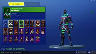 Unable to select no backbling/Unable to select default skin in FORTNITE
