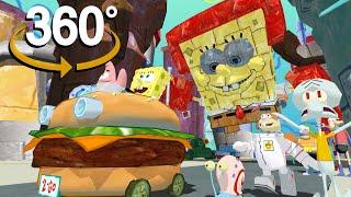 Spongebob Squarepants! - 360° - Plankton's Secret Formula Revenge! (3D VR Game Experience!)