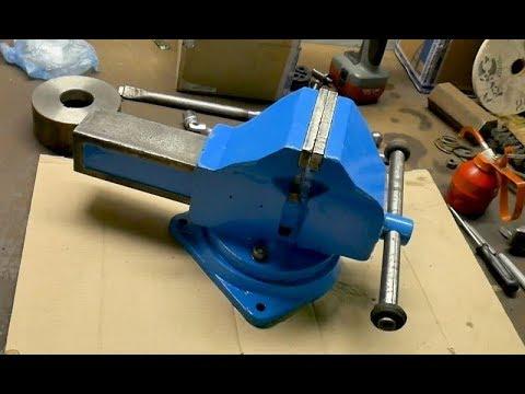 Тиски 120 мм - запуск в работу (обновка в мастерской)