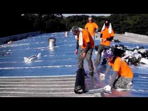 【千里達skyman】鐵皮屋頂防水隔熱毯貼覆-防水、隔熱、隔音三效合一