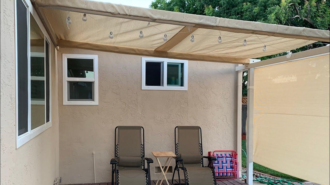 Diy Easy Backyard Shade Canopy Under 50