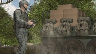 Squad Mission Support System autonomous ground vehicle follows soldiers into combat