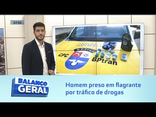 Fora de ação: Homem preso em flagrante por tráfico de drogas na Favela da Portelinha