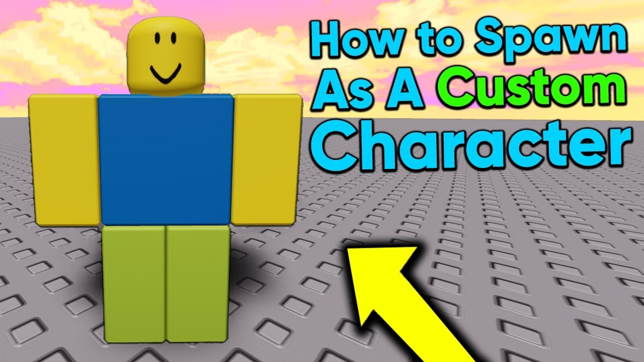 How To Spawn As A Custom Character In Roblox Studio 2020 Youtube