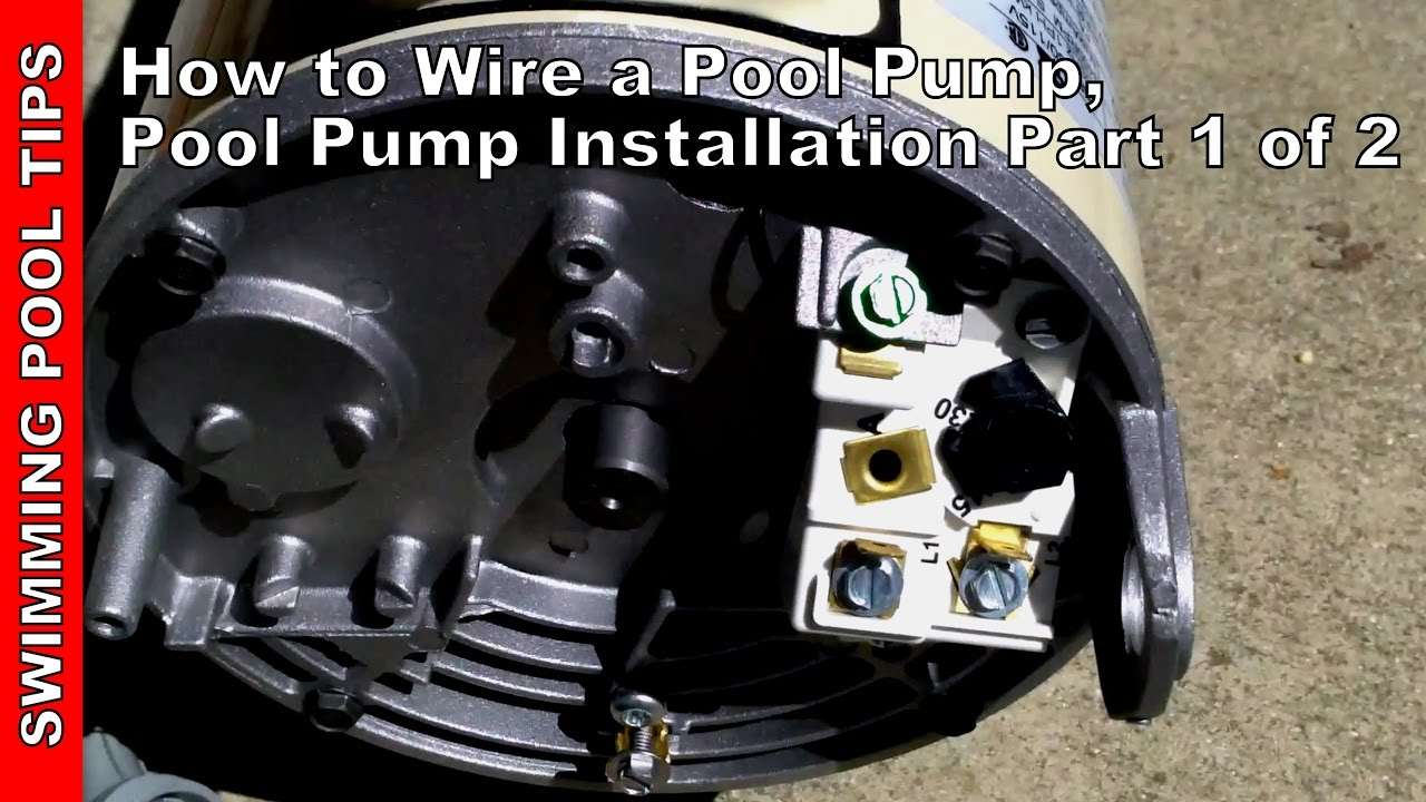 how to wire a pool pump pool pump installation part 1 of 2 youtube rh youtube com Wiring Pool Pump Outlet Wiring Pool Pump Outlet
