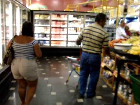 "Panamanian Men At The ""Rey"" Supermarket In Coronado, Panama"