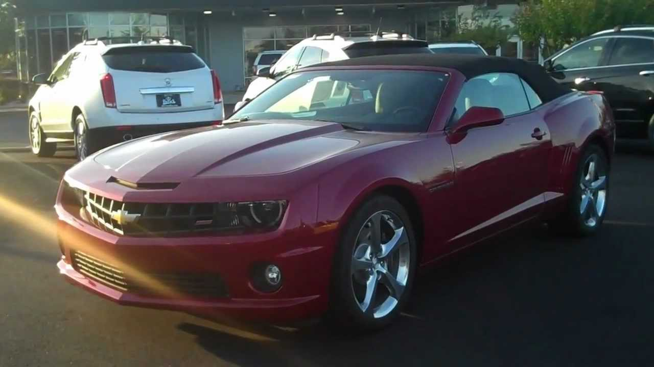 2013 Chevrolet Camaro Convertible Red Jewel Tint Coat