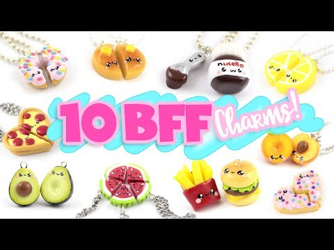 10 FOOD BFF DIY's  Polymer Clay Compilation