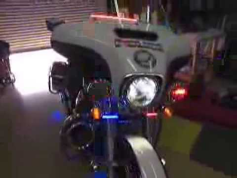 Delray Beach Pd Motorcycle Emergency Led Lights By Chrome