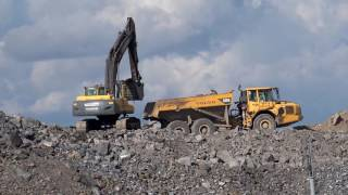 Volvo Ec 290B Excavator-Big machines-Scania truck