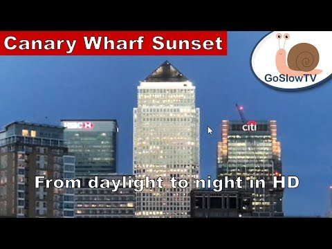 Canary Wharf Sunset | River Thames | London | UK | England | Slow TV | Episode 12 | By GoSlowTV