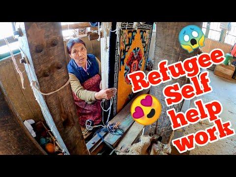 Tibetan Refugee Self-Help Centre Darjeeling | How Tibetan sheep wool carpet is hand  made |