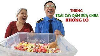 "Mr. and Mrs. Sau couple Vlog: ""Big fat giant"" yogurt mixed fruits"