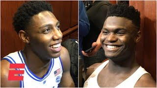Zion Williamson: 'I guess it's dope' to be mentioned by LeBron and Steph Curry | College Basketball