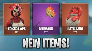 NEW TRICERA OPS SKIN + BITEMARK HARVESTING TOOL COMING SOON! - Fortnite Battle Royale