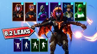 * NUEVO * LAVA LEGENDS, PRICKLY PATROLLER & FIRE SPINNER! (Fortnite 8.2 Skins & Emotes Leaks)