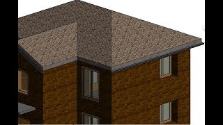 Формирование крыши по контуру стен: Revit #11