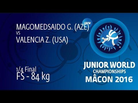 1/4 FS - 84 kg: G. MAGOMEDSAIDO (AZE) df. Z. VALENCIA (USA), 5-4