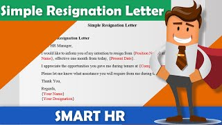 Simple Resignation Letter Sample | How To Write A Resignation Letter | @SMART HR