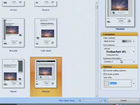 Make a Flyer Fast with Microsoft Publisher 2007 - YouTube